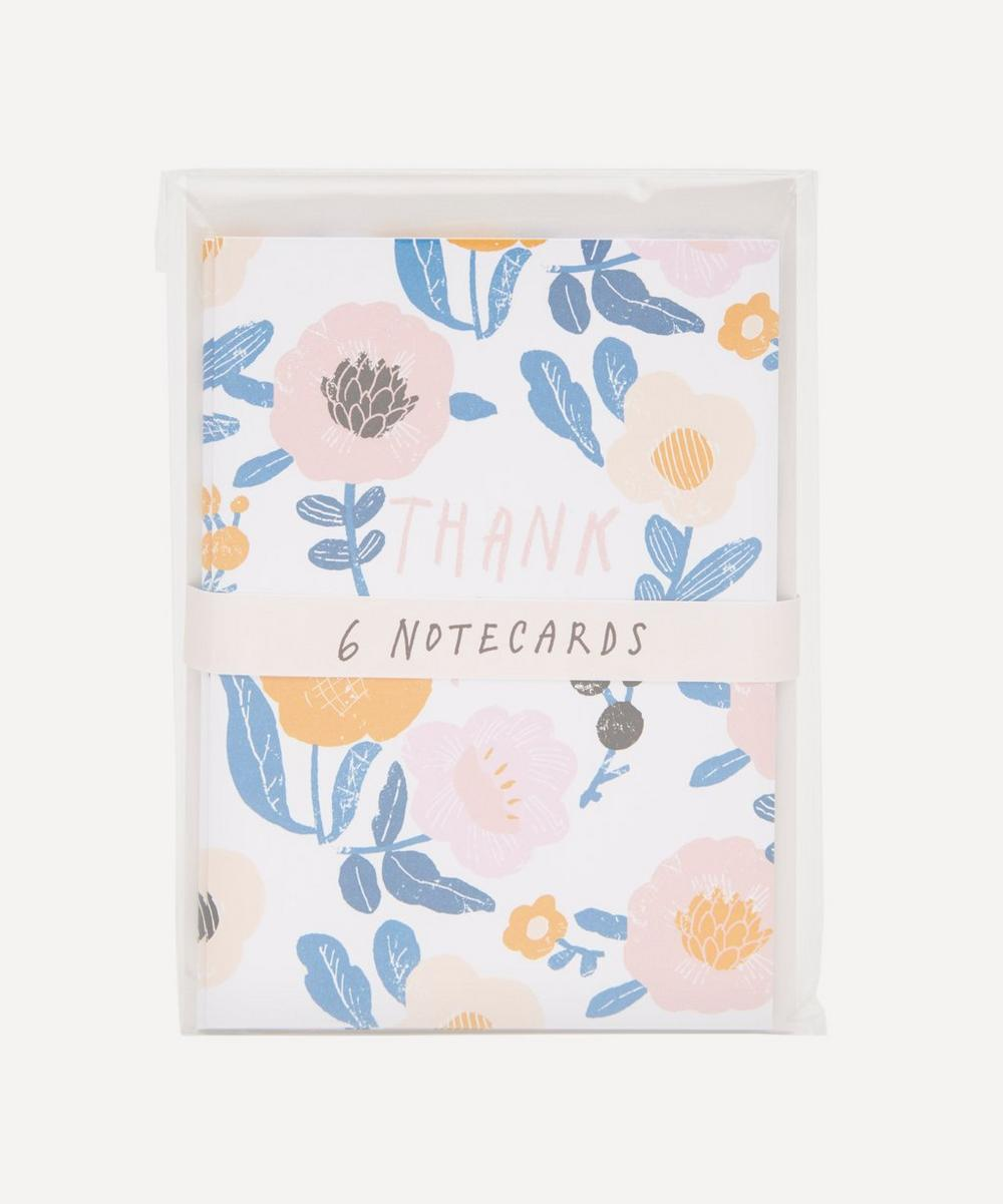 Noi - Pink and Blue Flowers Thank You Notecard Set