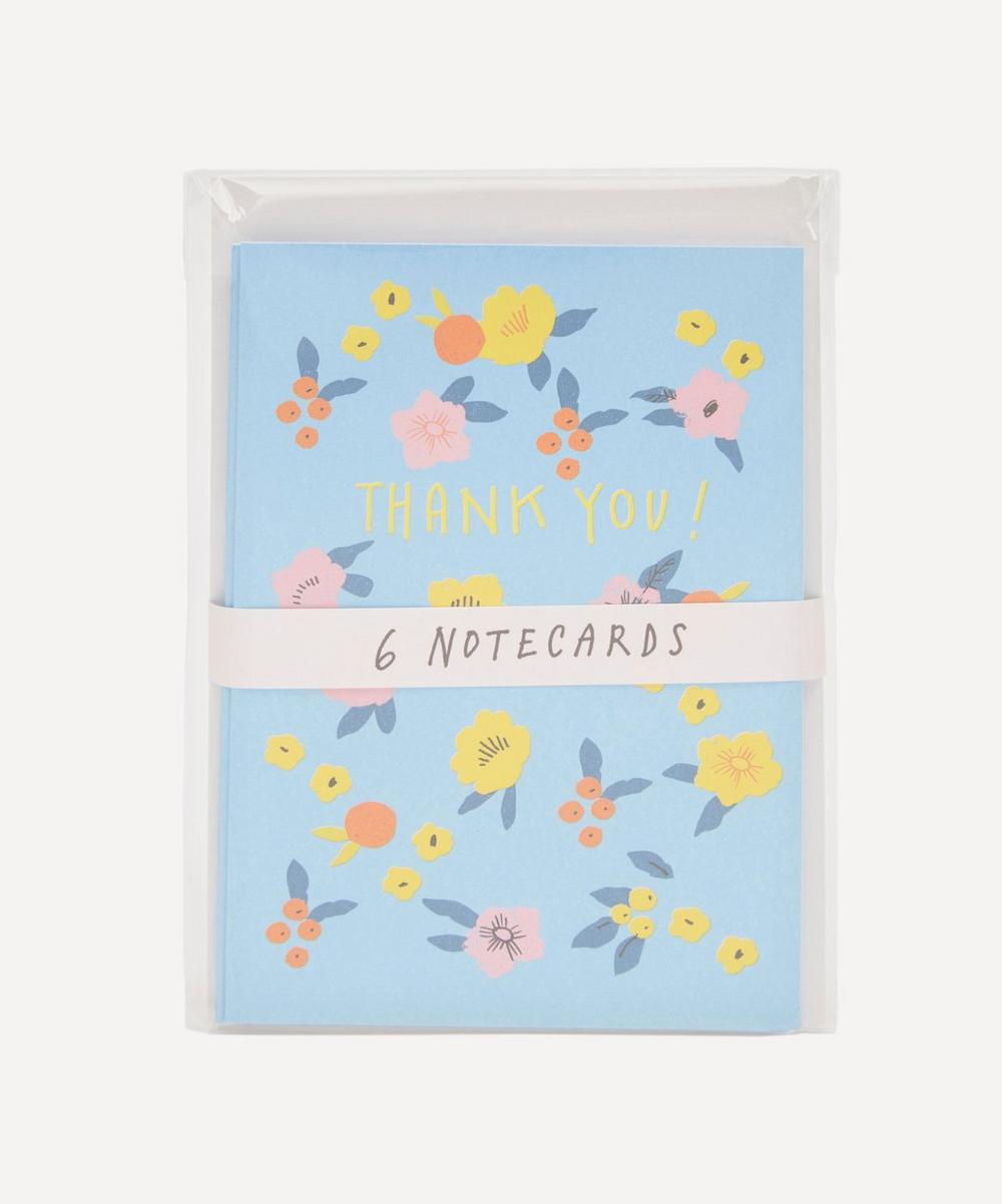 Noi - Pink and Yellow Flowers Thank You Notecard Set