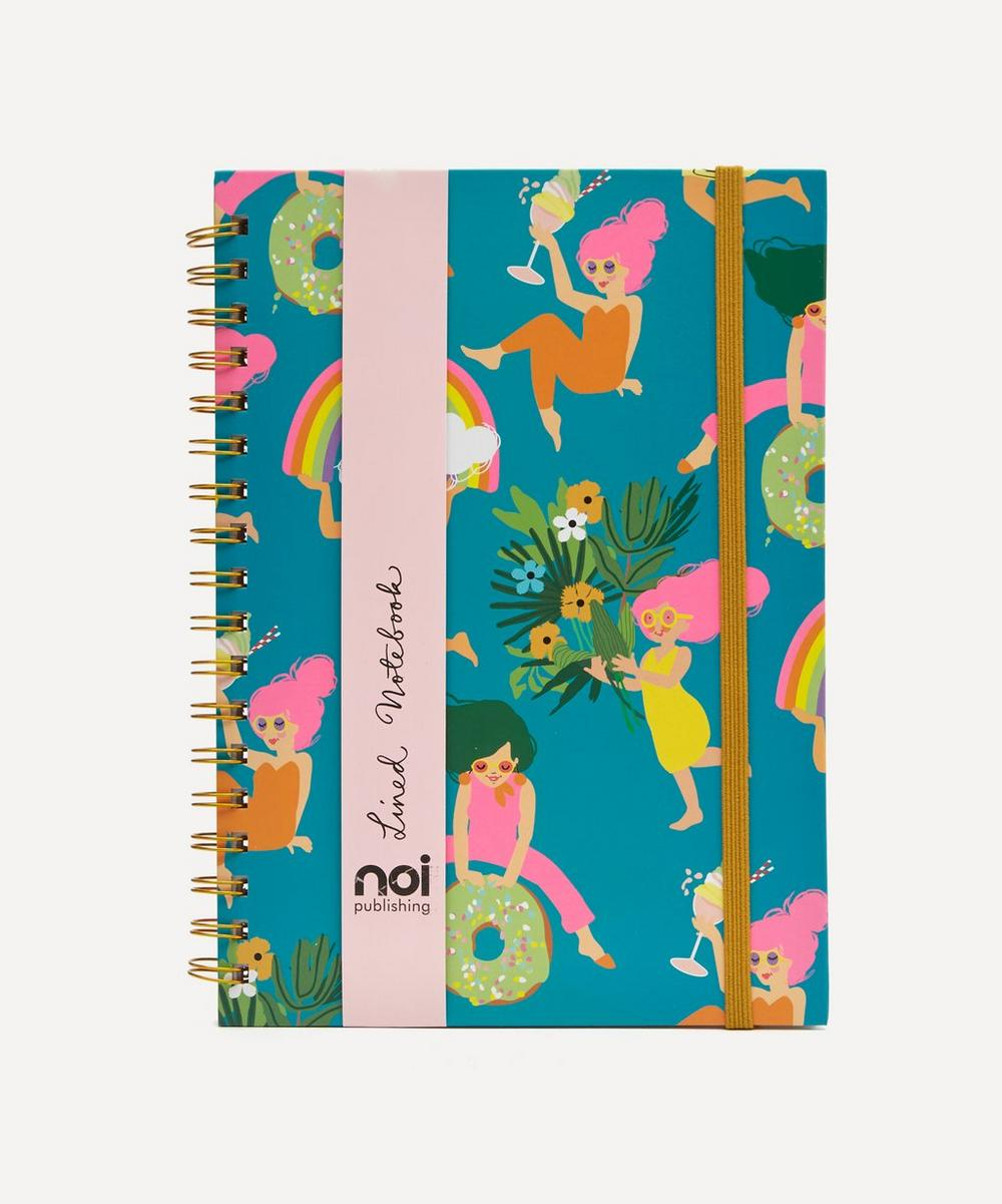 Noi - Rainbow Ladies Lined Notebook