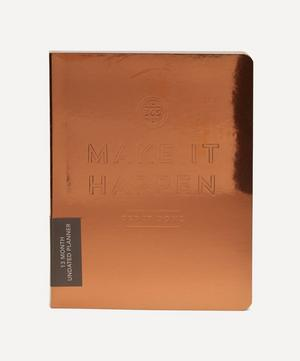 Make It Happen Copper Pocket Undated Planner