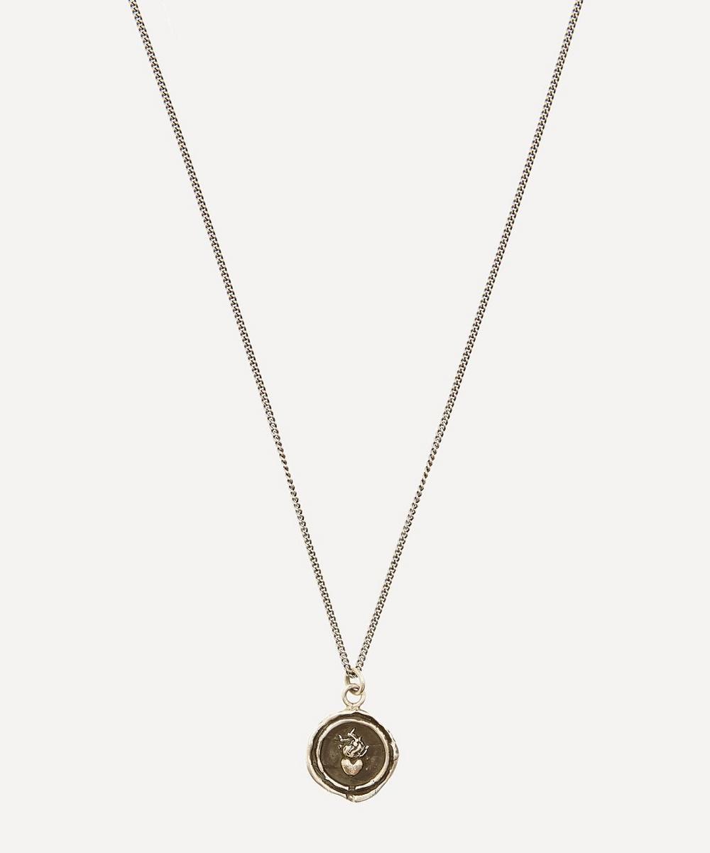 Pyrrha - Flaming Heart Necklace