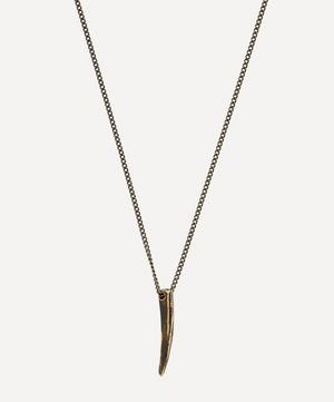 Silver Small Horn Necklace