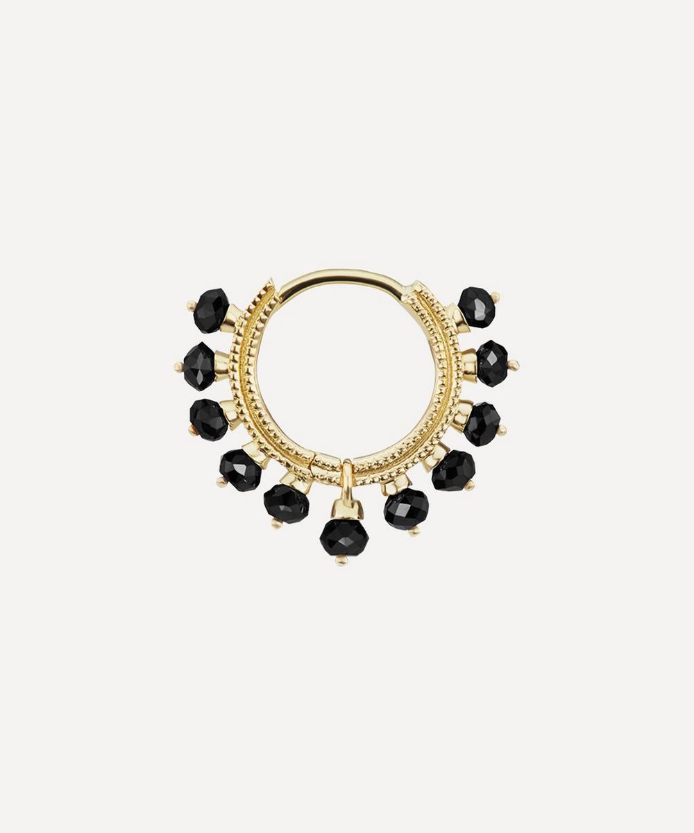 Maria Tash - 8mm Black Diamond Coronet Hoop Earring
