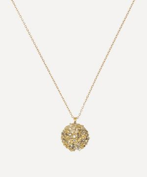Gold Diamond Dome Pendant Necklace