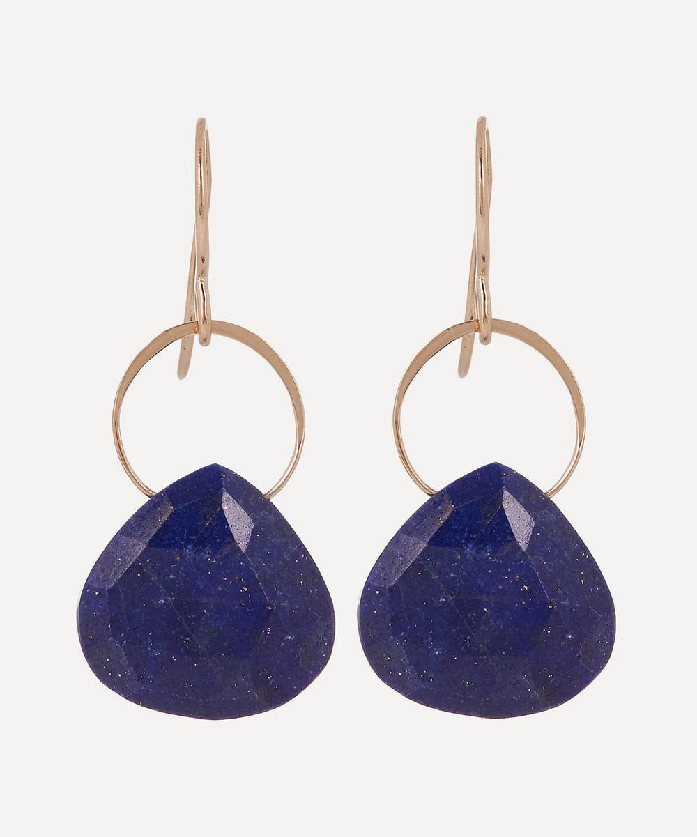 Melissa Joy Manning - Gold Lapis Single Drop Earrings