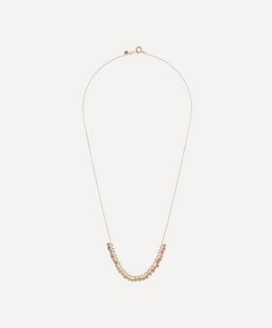 Gold Rainbow Tiny Dots Arc Necklace