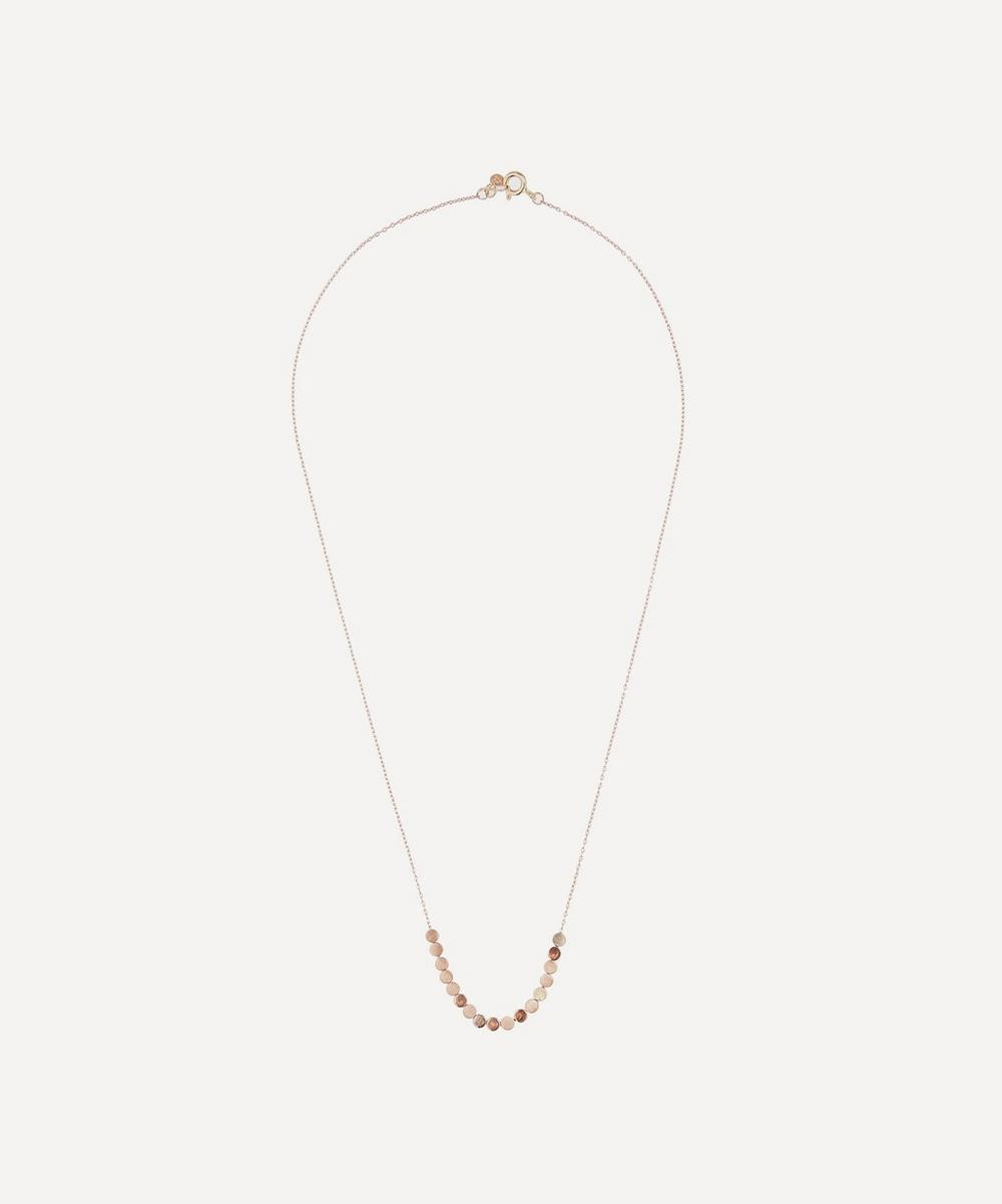 Sia Taylor - Rose Gold Dot Facet Bead Necklace