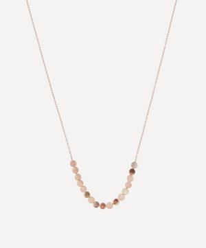 Rose Gold Dot Facet Bead Necklace