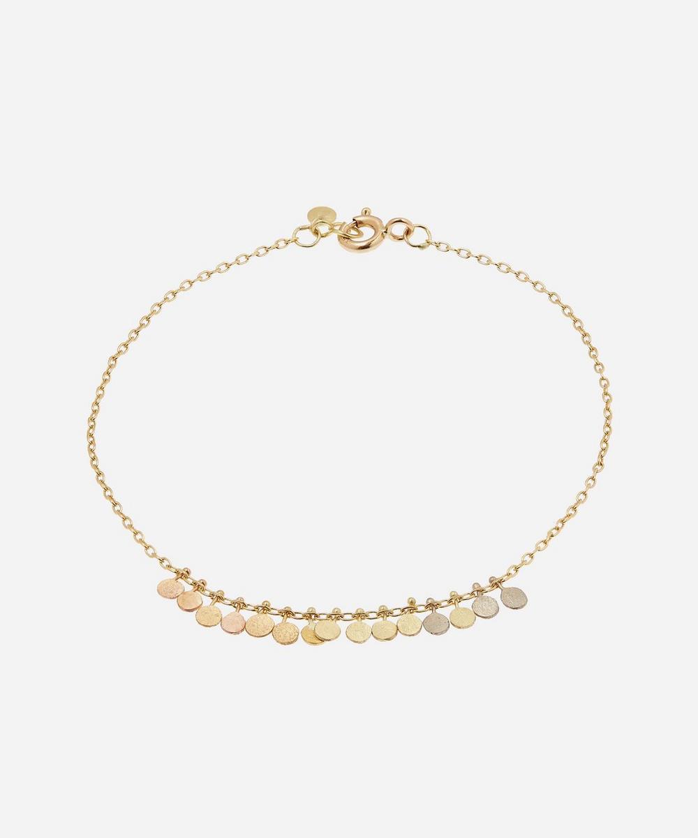 Sia Taylor - Gold Rainbow Tiny Dots Arc Bracelet