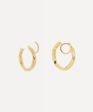 Gold-Plated Marcelle Twirl Earring Left