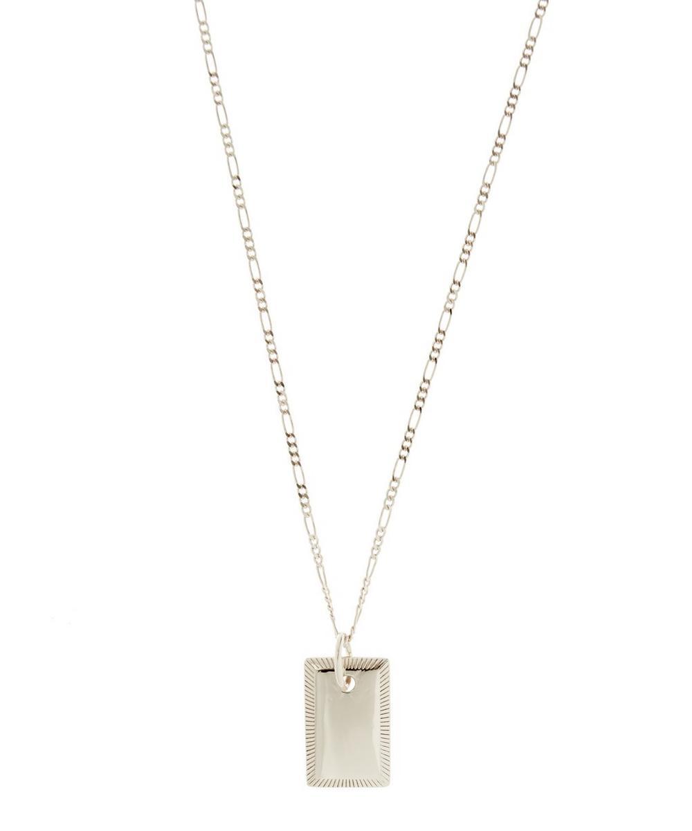 Maria Black - Eliza Rhodium Plated Rectangle Necklace