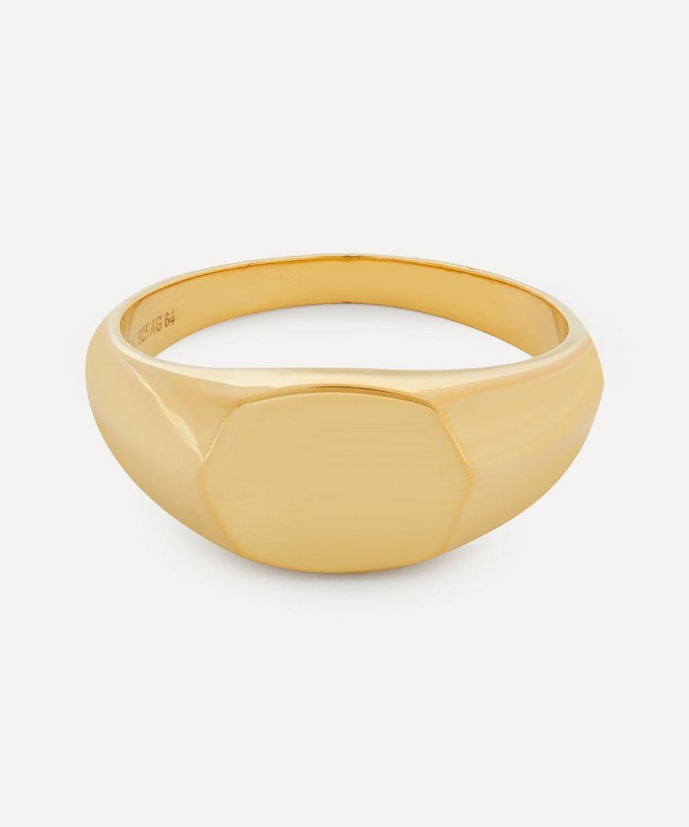 Maria Black - High-Polished Gold Signet Ring