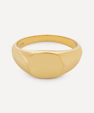 High-Polished Gold Signet Ring