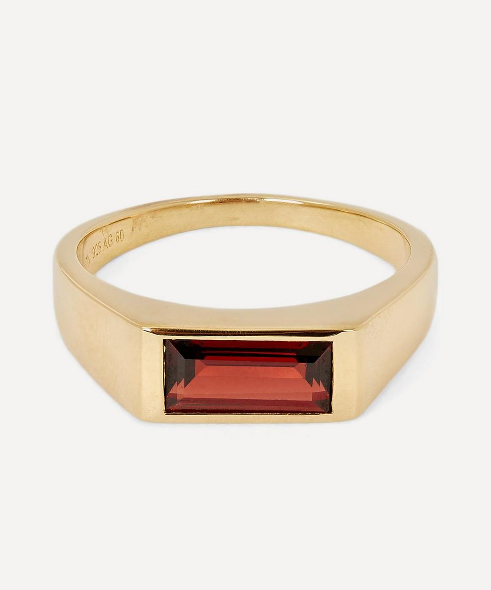 Maria Black - Gold Harald Signet Ring Small-Medium