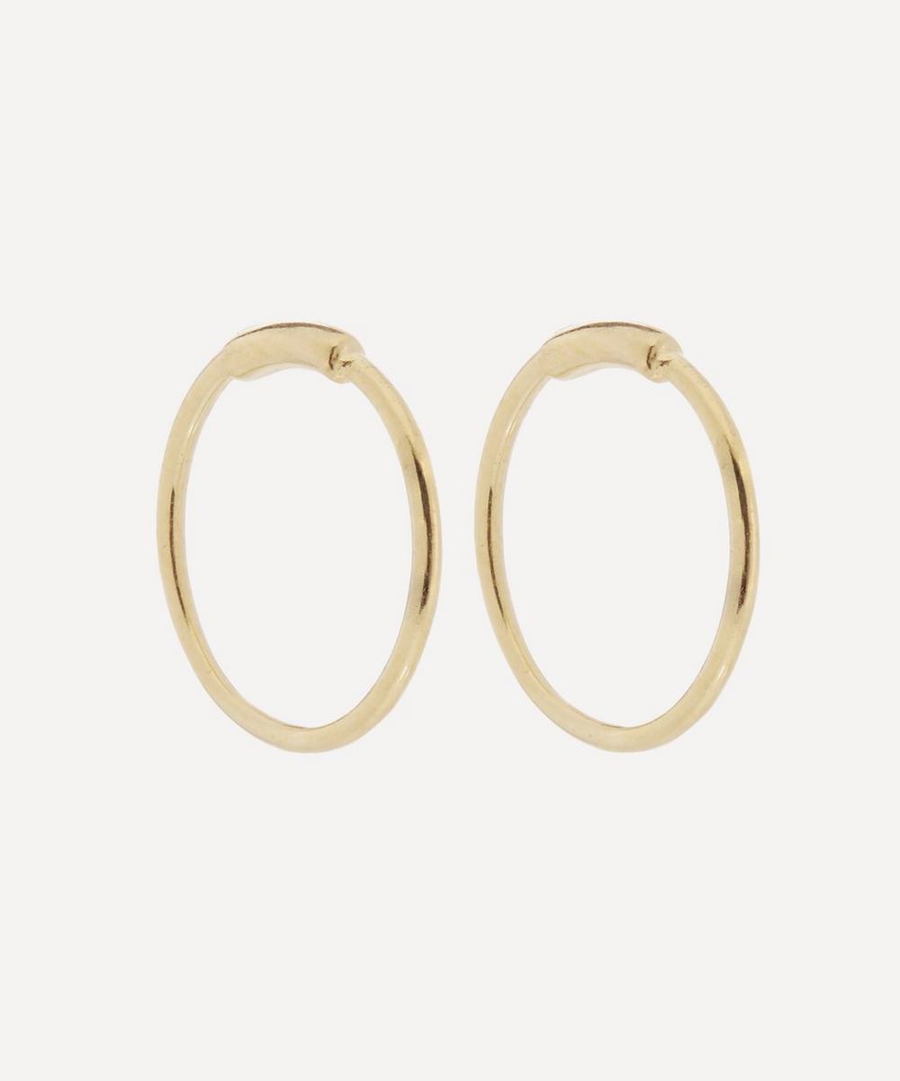 Maria Black - Gold-Plated Basic Hoop Earrings