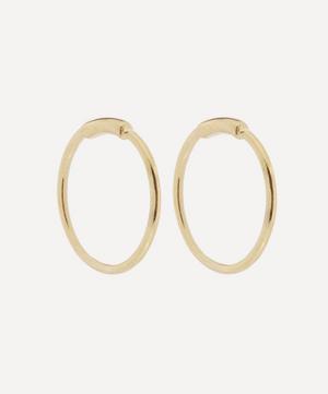 Gold-Plated Basic Hoop Earrings