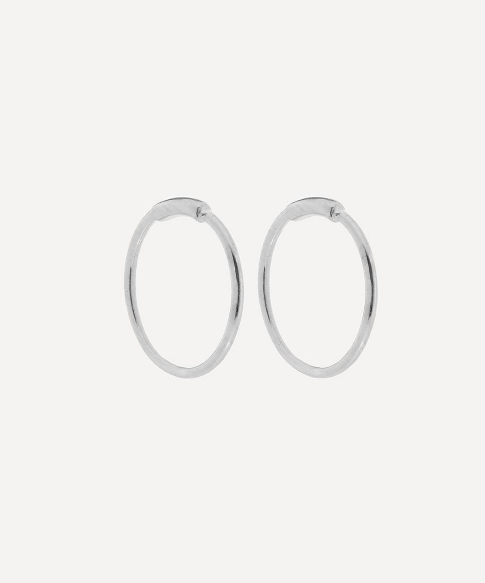 Maria Black - Rhodium Plated Basic Hoop Earrings