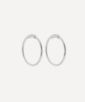Rhodium Plated Basic Hoop Earrings