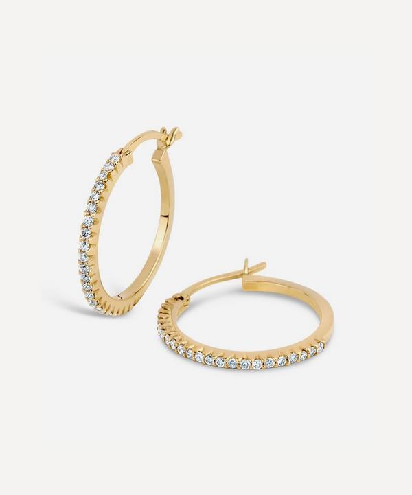 Dinny Hall - Gold Bijou Micro-Set Diamond Hoop Earrings