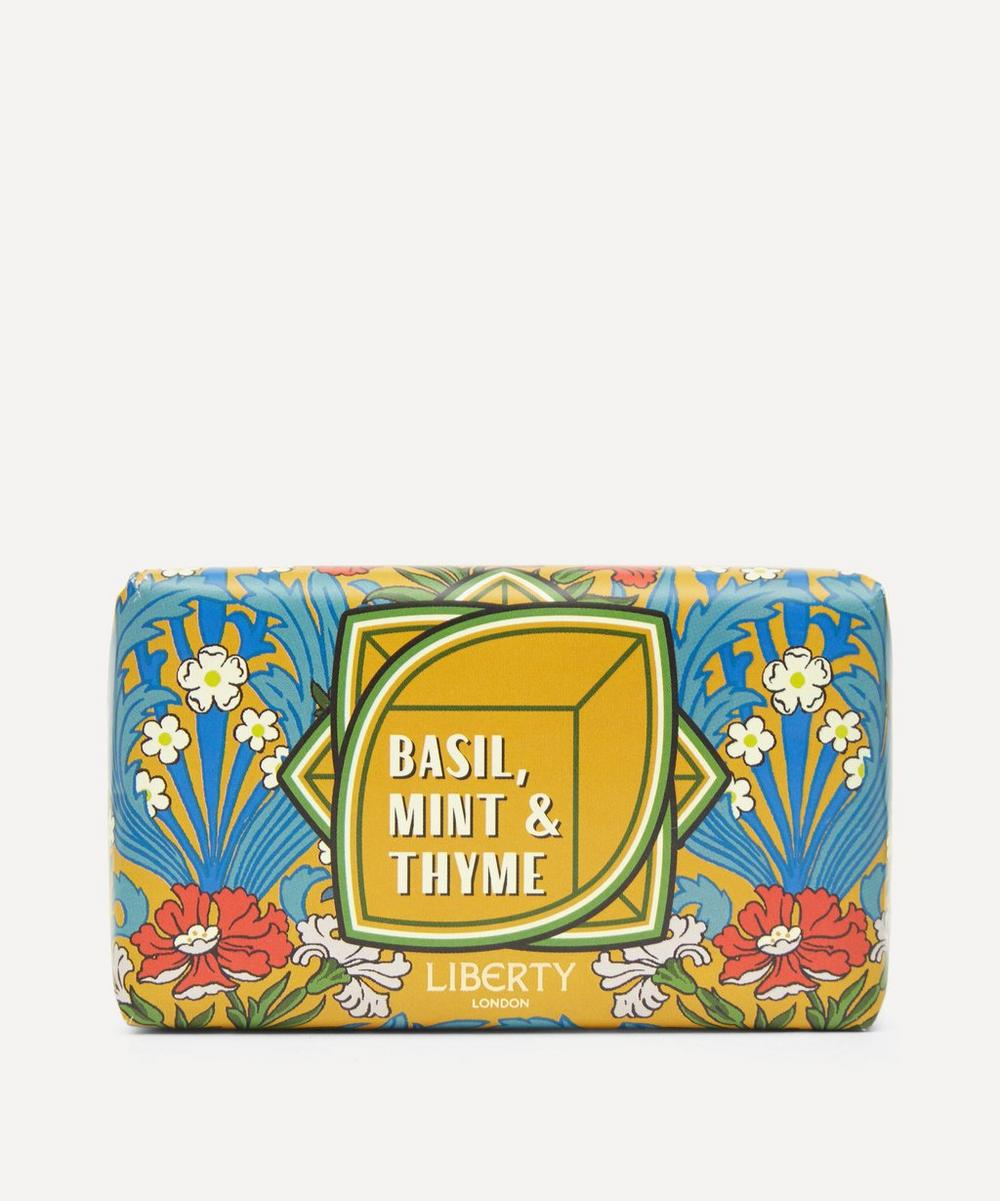 Liberty London - Basil Mint and Thyme Bar Soap 200g