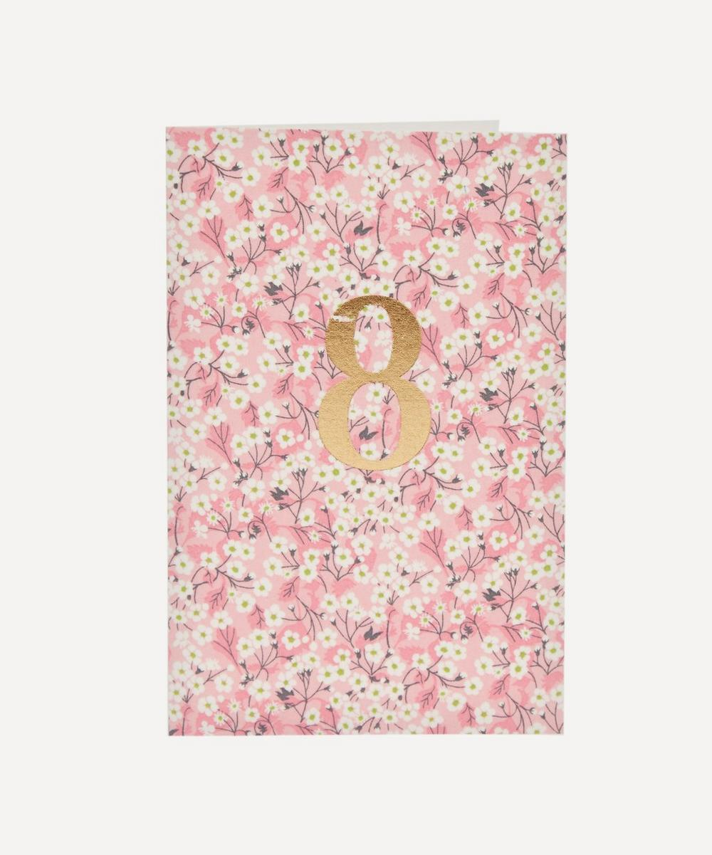 Esmie - Mitsi Valeria Liberty Print 8 Birthday Card