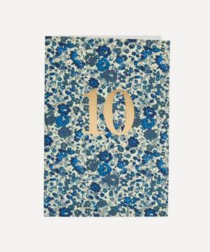 Emma Georgina 10 Cotton-Covered Birthday Card