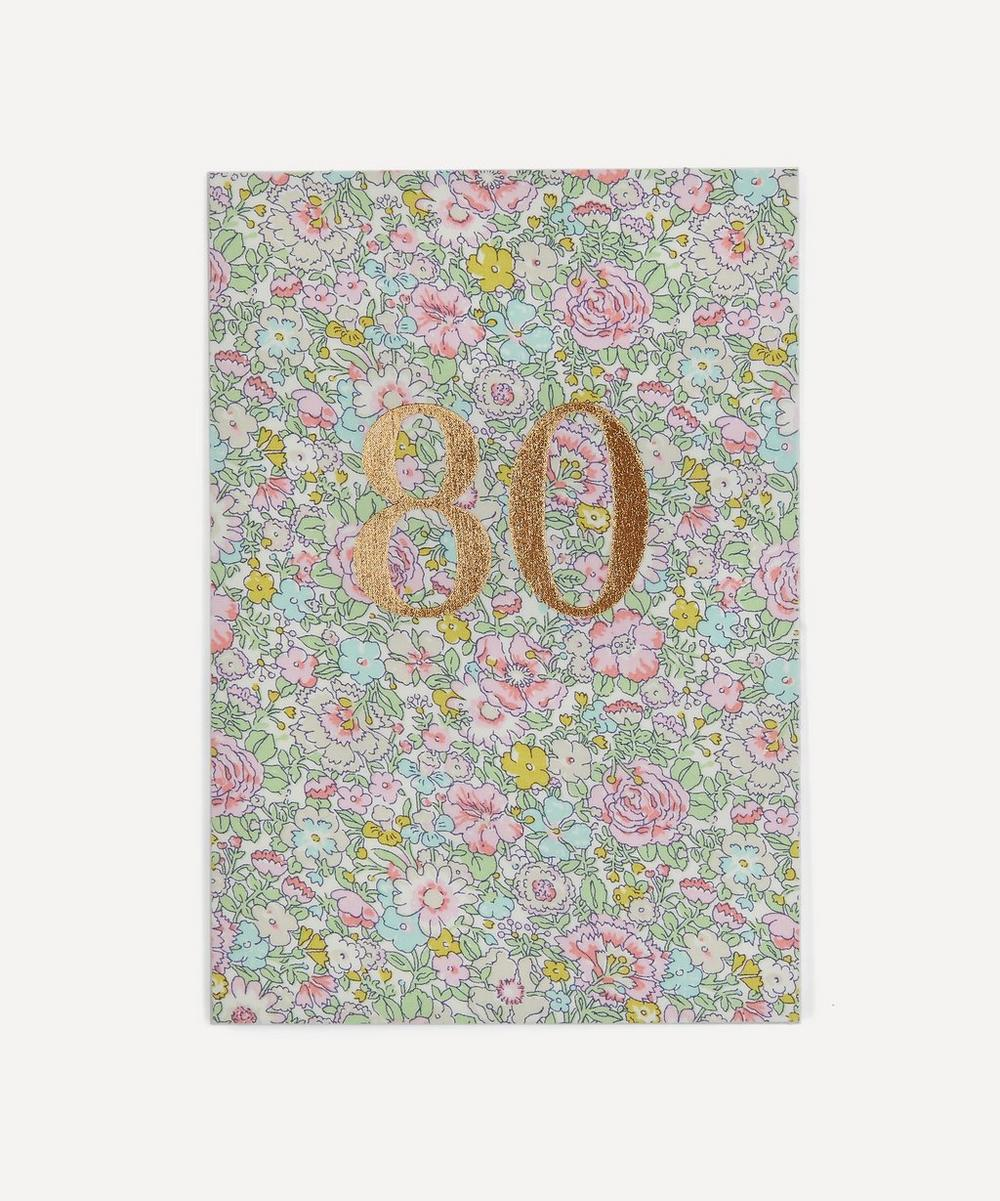 Liberty - Amelie Print 80th Birthday Card