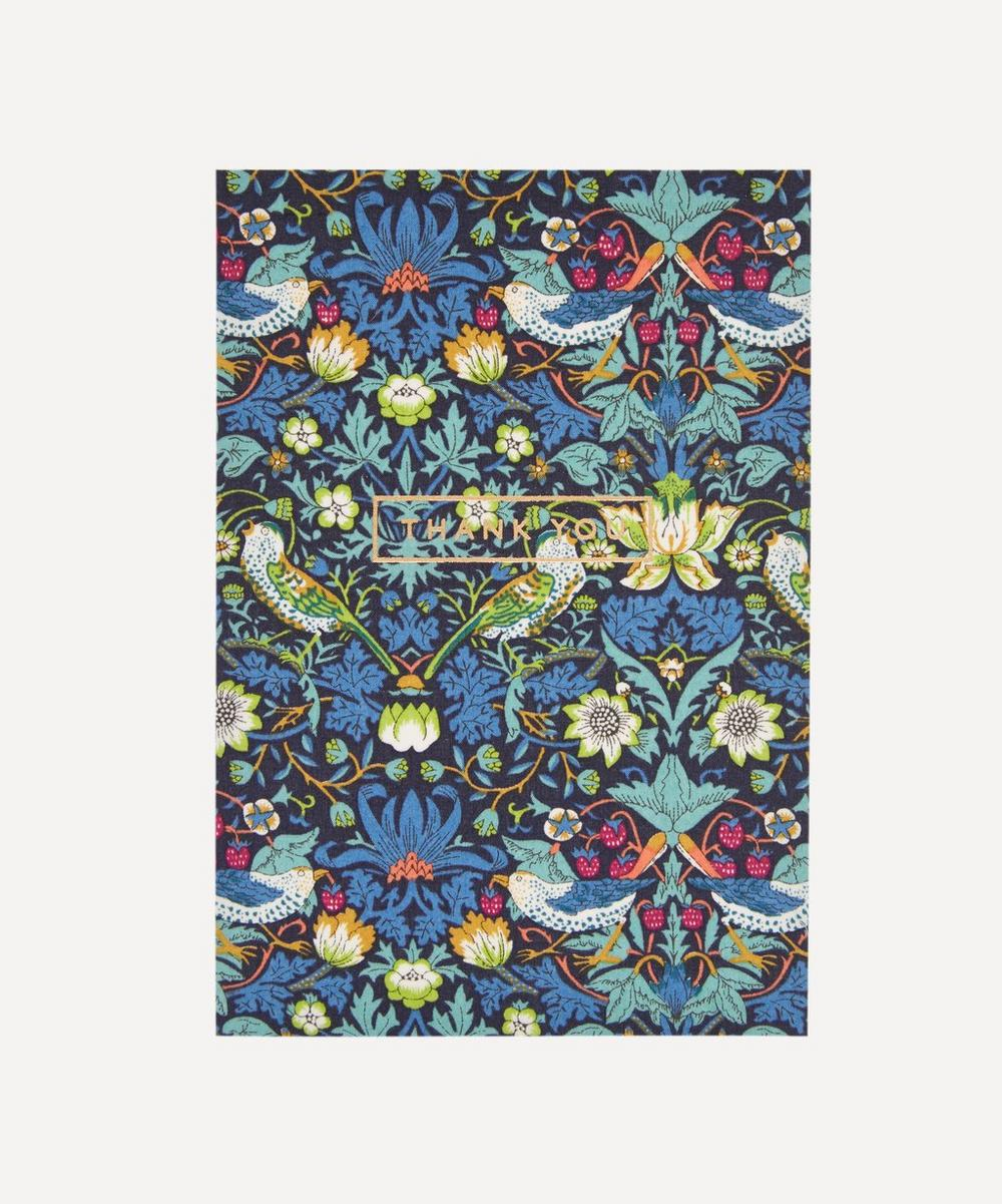 Liberty - Strawberry Thief Cotton-Covered Thank You Card