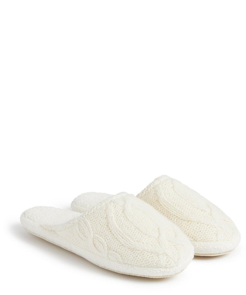 Soho Home - Harrison Cable Knit Slippers in Large