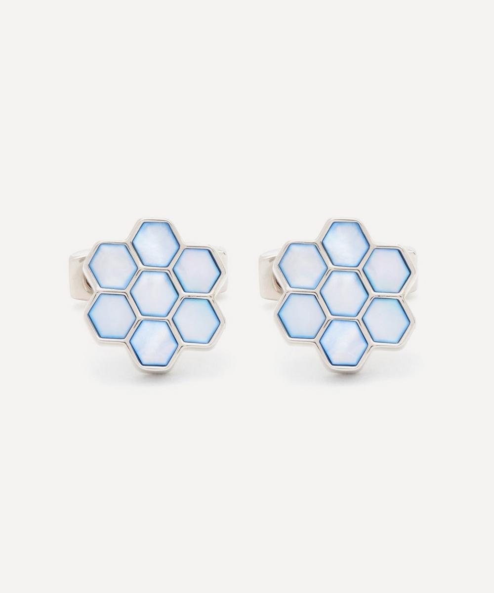 Simon Carter - Honeycomb Mother of Pearl Cufflinks