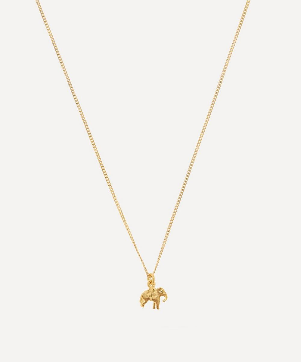 Alex Monroe - Gold-Plated Marching Elephant Children's Necklace