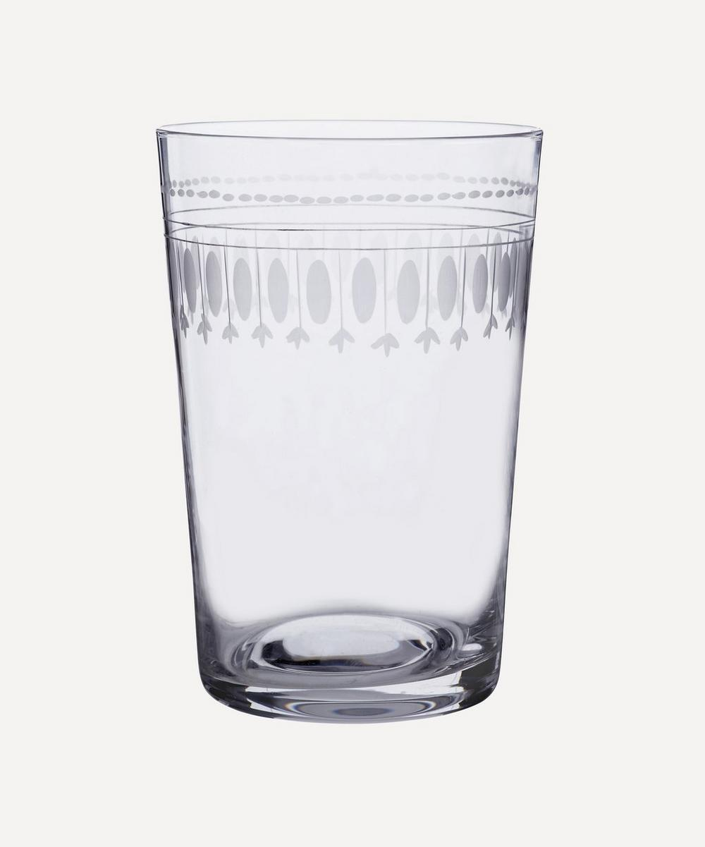 The Vintage List - Set of Six Crystal Tumblers With Ovals