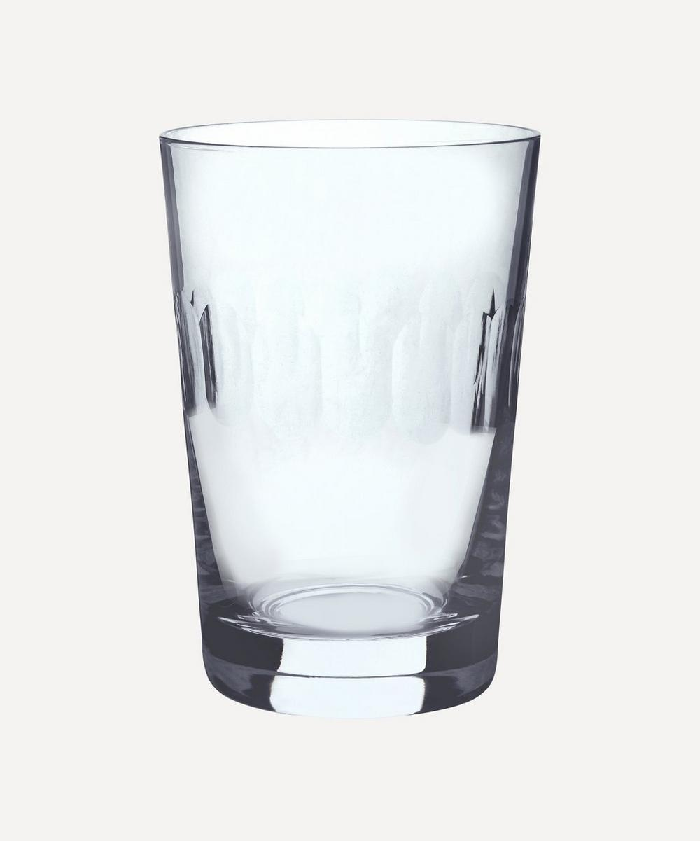 The Vintage List - Set of Six Crystal Tumblers With Lens