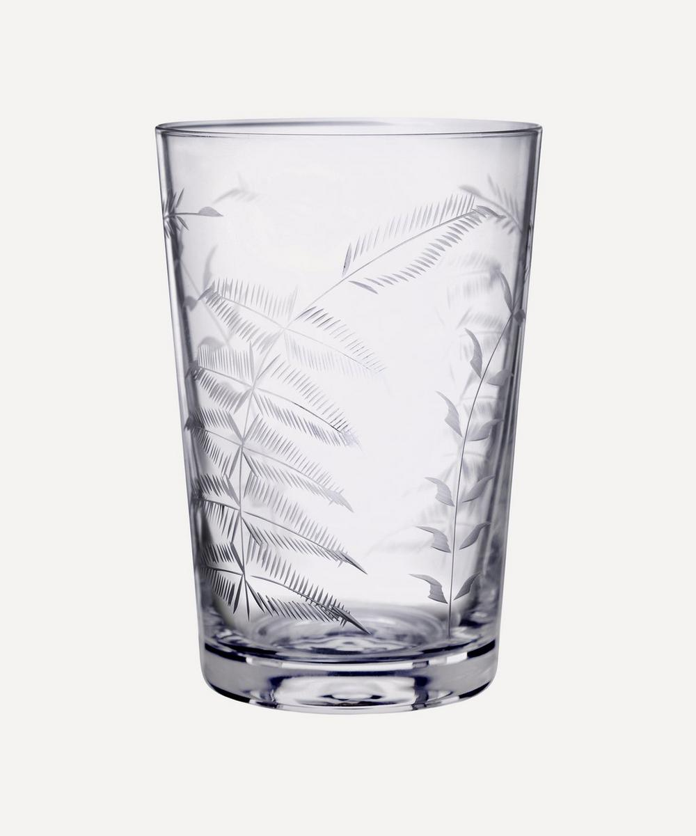 The Vintage List - Set of Six Crystal Tumblers With Ferns