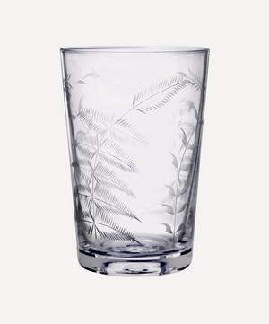 Set of Six Crystal Tumblers With Ferns