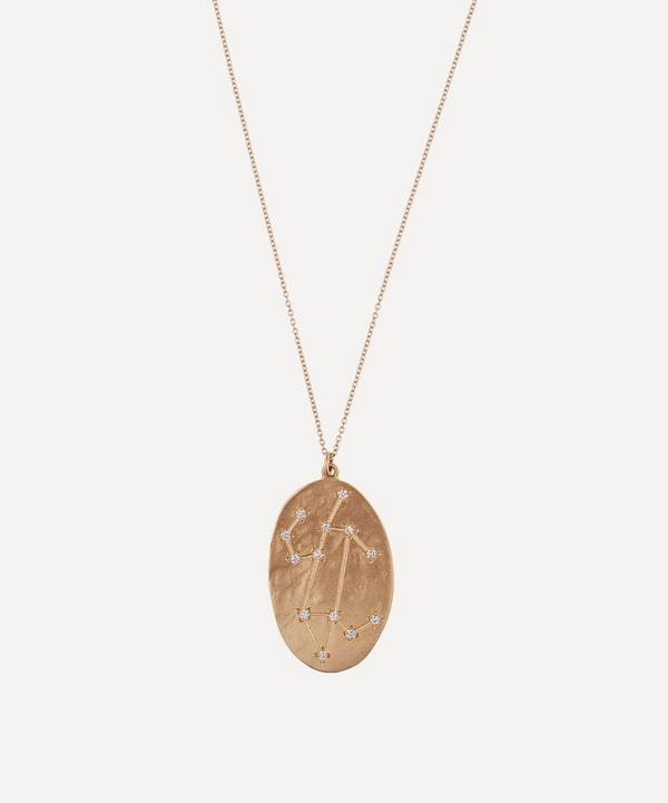 Brooke Gregson - Gold Leo Astrology Diamond Necklace