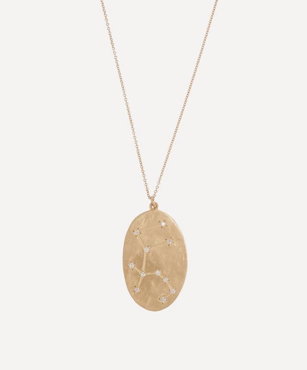 Brooke Gregson - Gold Aquarius Astrology Diamond Necklace