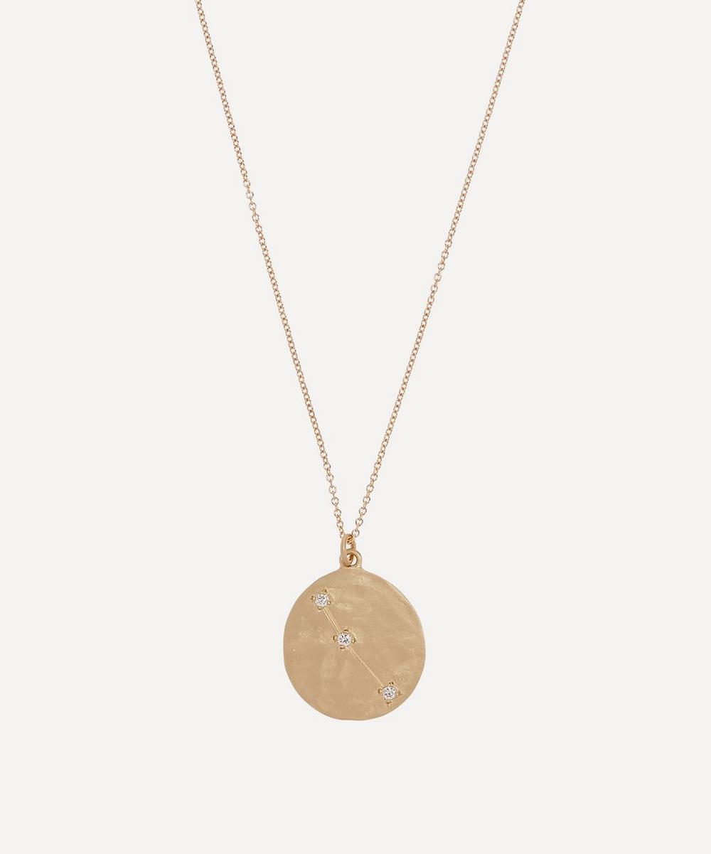 Brooke Gregson - Gold Aries Astrology Diamond Necklace