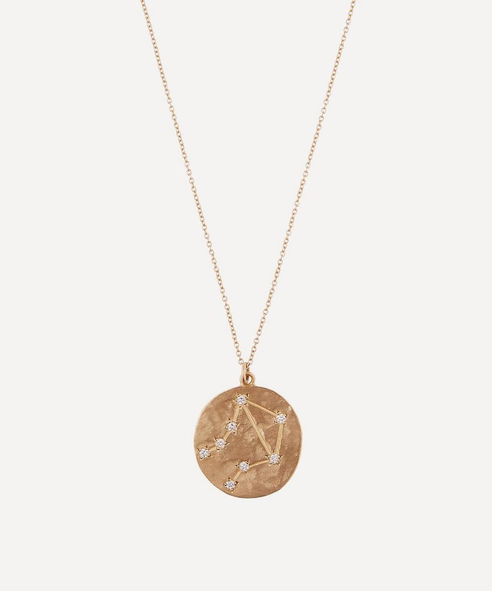 Brooke Gregson - Gold Libra Astrology Diamond Necklace
