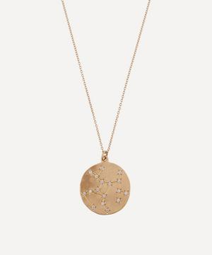 Gold Sagittarius Astrology Diamond Necklace