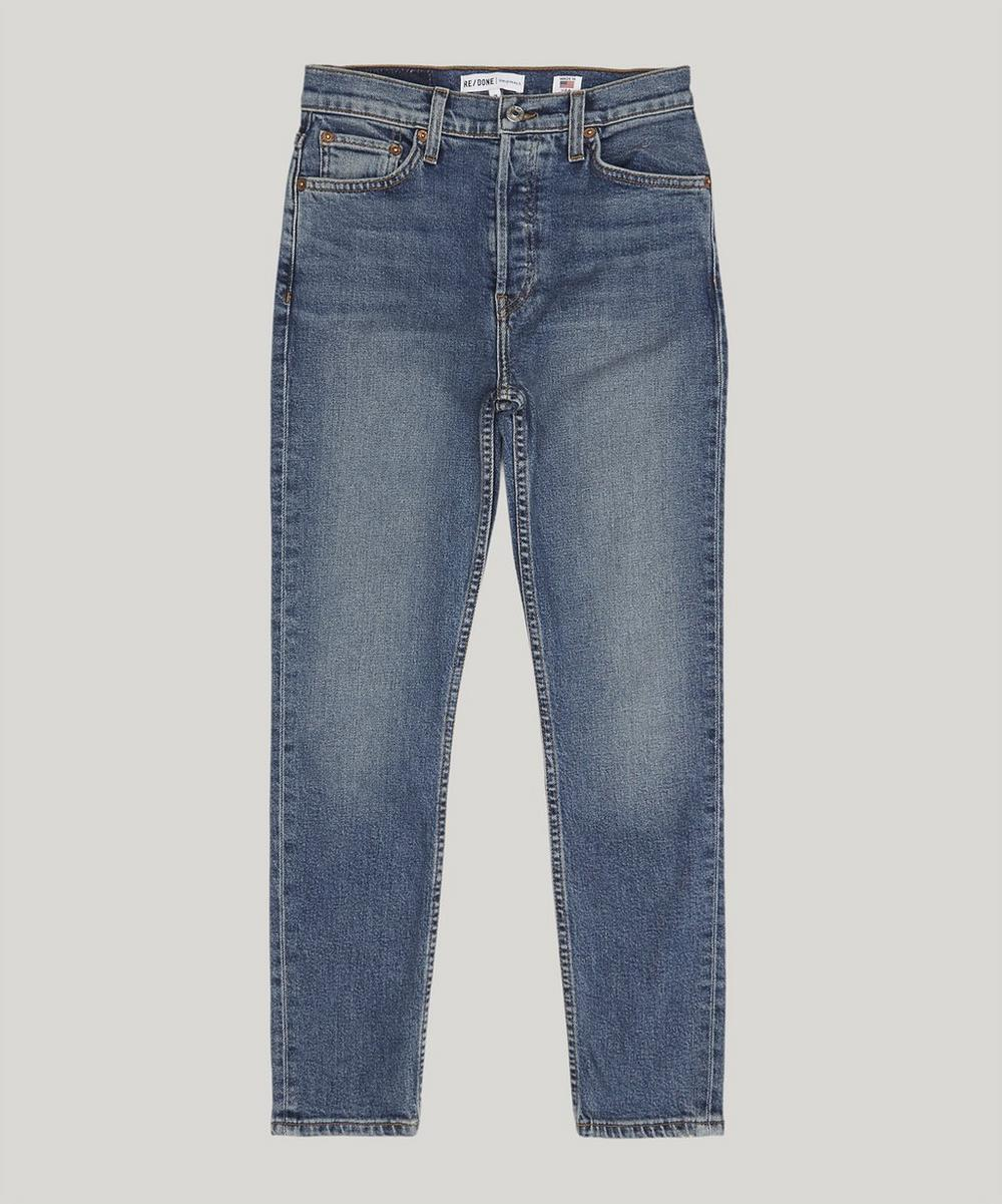 RE/DONE - High-Rise Ankle Crop Jeans