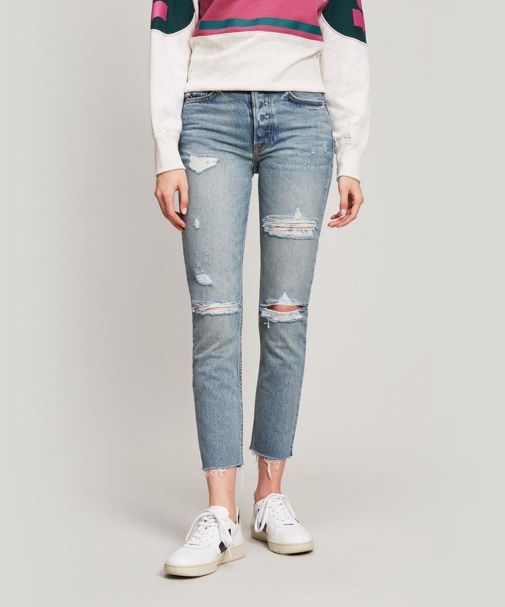 GRLFRND - Karolina Ripped High-Rise Jeans