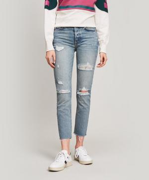 Karolina Ripped High-Rise Jeans