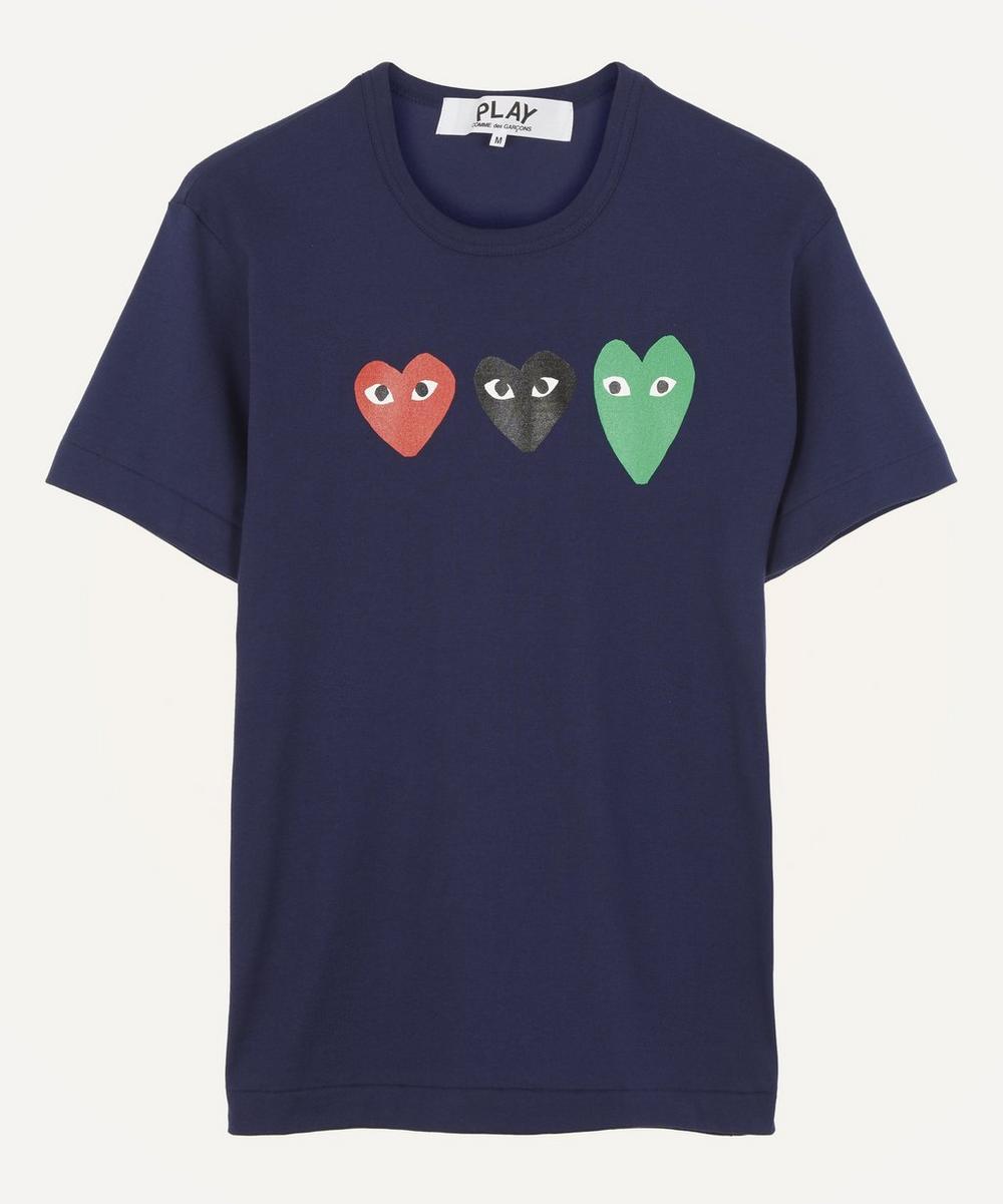 Comme des Garçons Play - Triple Heart Cotton T-Shirt