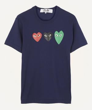 Triple Heart Cotton T-Shirt