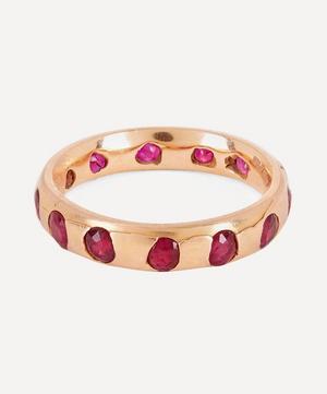 Rose Gold Celeste Ruby Crystal Ring