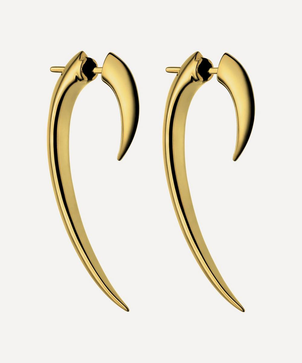 Shaun Leane - Gold Plated Vermeil Silver Hook Earrings