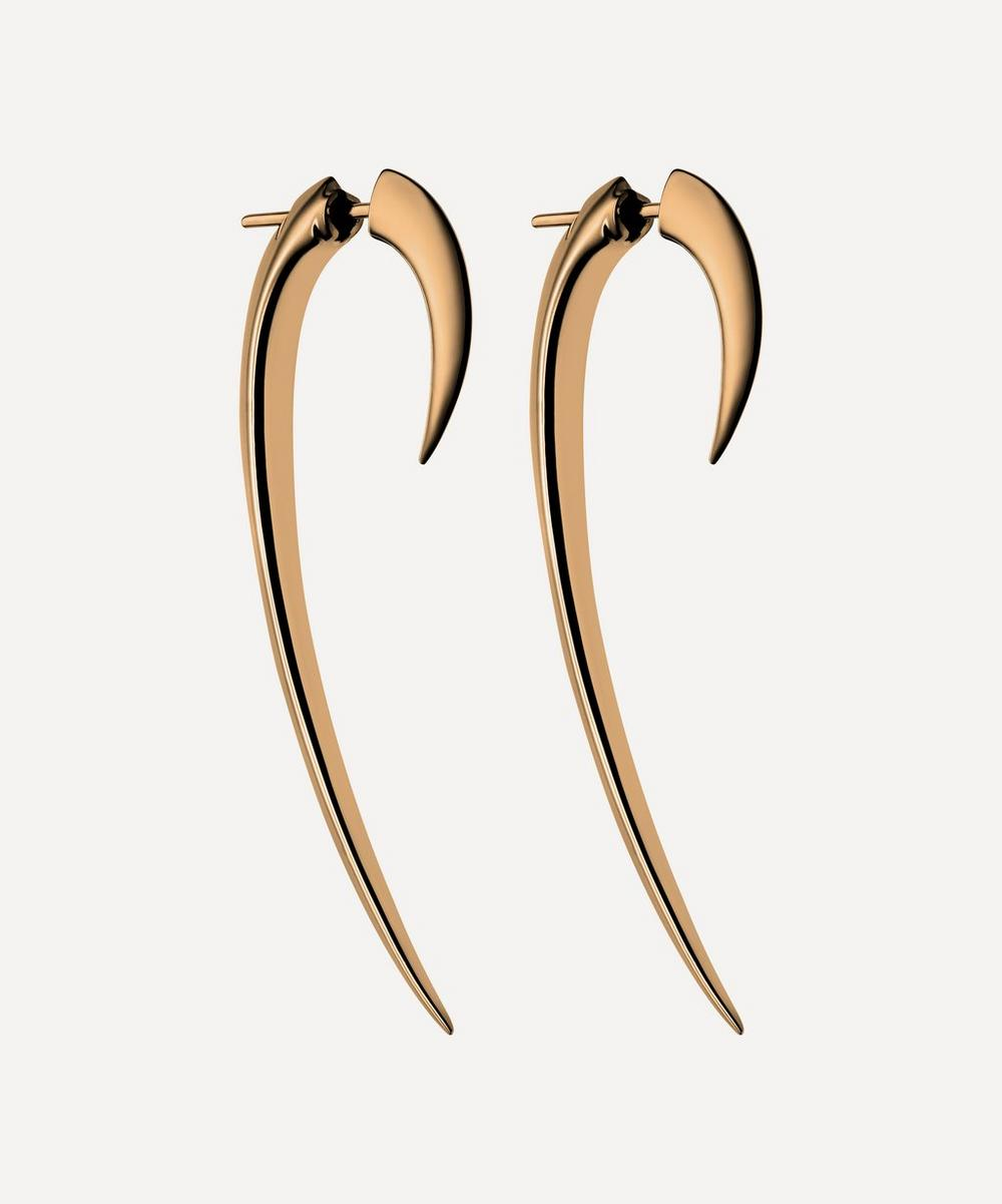 Shaun Leane - Rose Gold Plated Vermeil Silver Large Hook Earrings