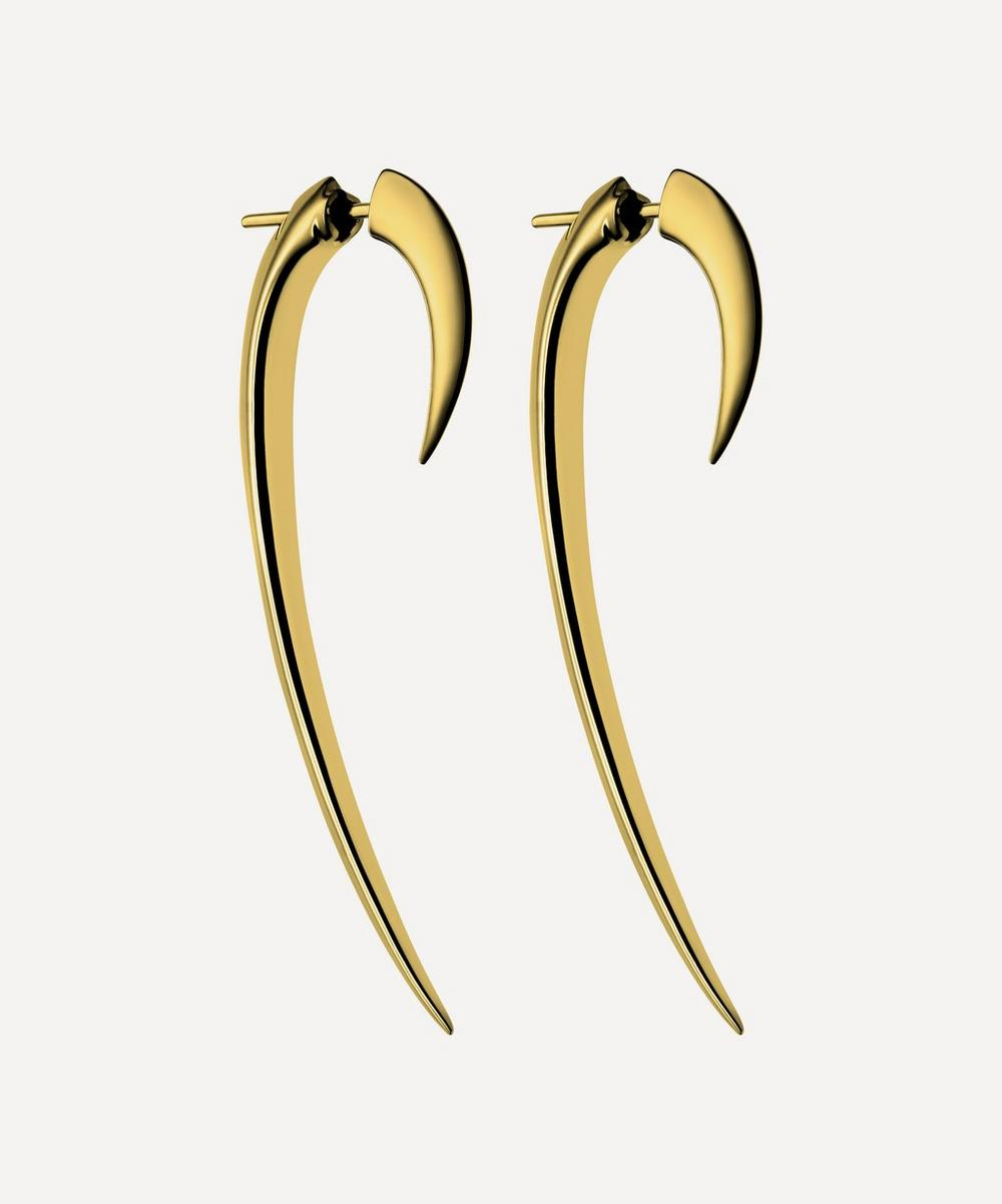 Shaun Leane - Gold Plated Vermeil Silver Large Hook Earrings