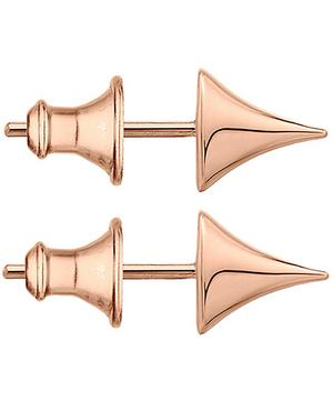 Large Rose Gold Plated Vermeil Silver Rose Thorn Studs
